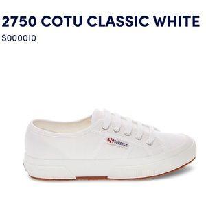 NEW Superga Classic White Cotu Sneakers 41 9.5